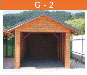 GG-2 drevená garáž